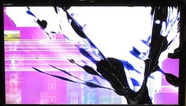 Разбитый экран ноутбука